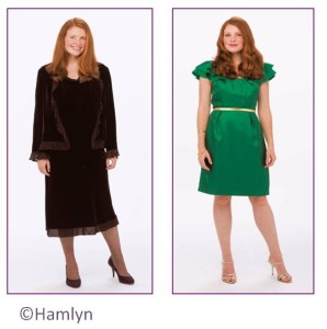 Before and after - woman in black dress and green dress in a blog post by Gillian Lewis: Spectrum