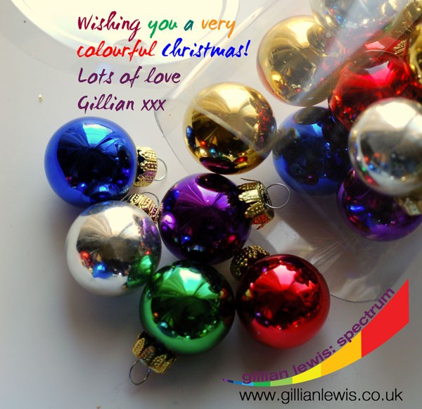 Gillian Lewis: Spectrum wishes you a very colourful Christmas