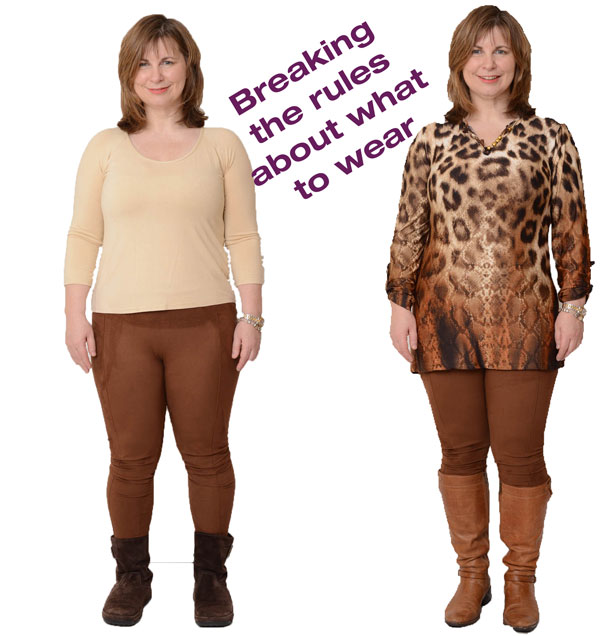 """""""Breaking the rules about what to wear"""" - leggings: A blog post by Gillian Lewis: Spectrum, a Colour Me Beautiful trained Image Consultant"""