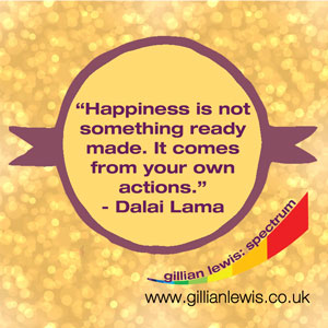 Happiness is not something ready made - it comes from your own actions.  A quote by the Dalai Lama