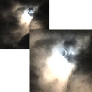 Seeing the partial eclipse on 20 March 2015 made me happy