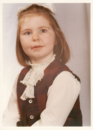 A picture of Gillian Lewis: Spectrum aged 4