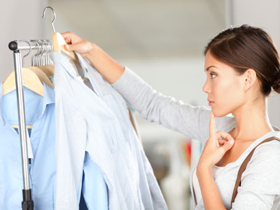 Choosing what to wear -