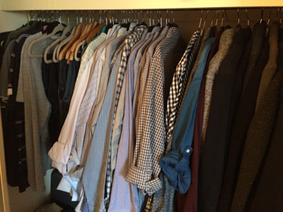 Wardrobe Decluttering for men by Image Consultant: Gillian Lewis of Spectrum Coaching and Consultancy