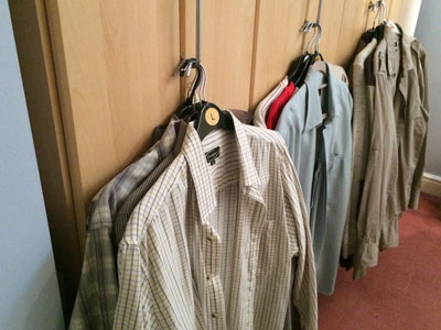 Wardrobe Decluttering for men - the shirts that were removed