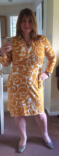 Clothes from the supermarket Gok Wan mustard and ivory dress at Tu